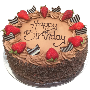 Strawberry Cake With Chocolate Icing
